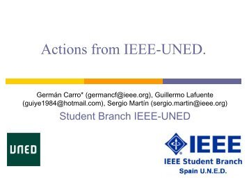 UNED Spain - QMUL IEEE Student Branch