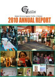 annual report 2010 - Global Alliance Against Traffic in Women