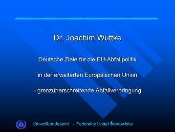 Dr. Joachim Wuttke
