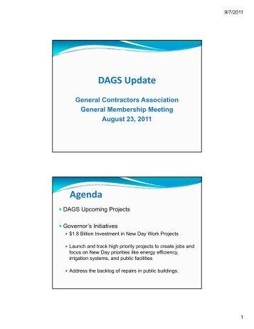 DAGSU d t Update Agenda - General Contractors Association of ...