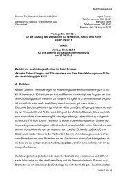 L03/18 Bericht zur Ausbildungssituation im  Land Bremen
