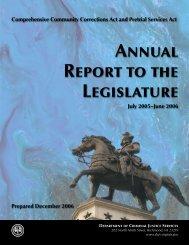 Annual Report to the Legislature - Virginia Department of Criminal ...