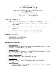 Alicia Fedelina Chavez - College of Education - University of New ...