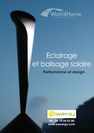 Eclairage et balisage solaire - Eqwergy