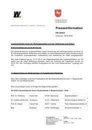 Ergebnisse der Europawahl 2009 - AfA-Bezirk Hannover