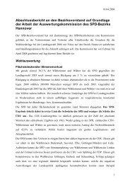 Abschlussbericht der Auswertungskommission - SPD-Bezirk Hannover