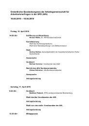 Afa Bundeskongress 2010 Vorlaeufige Tagesordnung - AfA-Bezirk ...