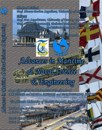 ADVANCES in MARITIME and NAVAL SCIENCE and ... - Wseas.us
