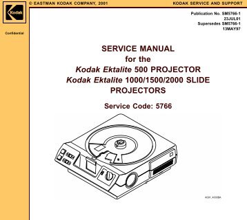 service manual kodak carousel 600 600h 650 micro tools rh yumpu com Manual Projector Screen Ceiling Mount Projector Screen