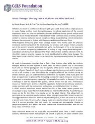 Music Therapy: Therapy that is Music for the Mind and Soul - CdLS
