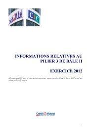 informations relatives au pilier 3 de bâle ii exercice 2012 - Banque ...