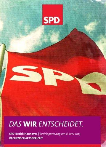 Rechenschaftsbericht - SPD-Bezirk Hannover