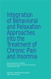 Integration Of Behavioral And Relaxation Approaches Into The