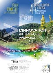 l'InnovatIon en montagne 13 et 14 octobre 2011 - Institut de la ...