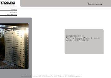 Sichtschutzwände Gabionen Zäune (1,6MB) - Knobling