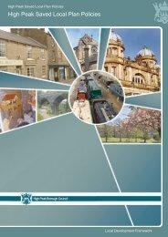 High Peak Saved Local Plan Policies - High Peak Borough Council