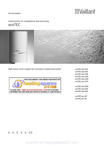 Vaillant - ecoTEC - Heatingspares247.com