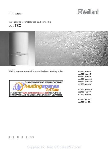 Vaillant Ecotec Heatingspares247 Com