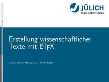 Latex - Presentation - STRV Erdwissenschaften