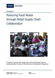 Reducing food waste through Retail Supply Chain ... - Wrap