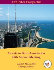 Exhibitor Prospectus - American Burn Association