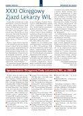 XXXI Okręgowy Zjazd Lekarzy WIL Uchwały, apele i sprawozdania - Page 5