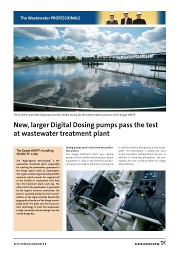 New, larger Digital Dosing pumps pass the test at wastewater ...
