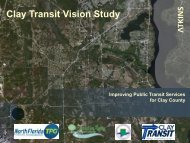 Clay County Transit Vision Presentation - North Florida TPO