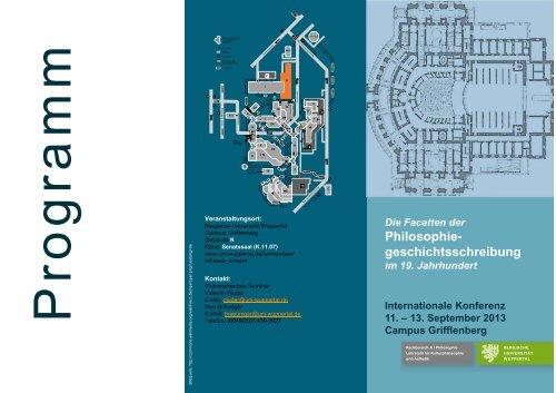 Flyer - Philosophie - Bergische Universität Wuppertal