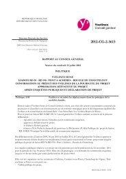 Rapport de délibération - Conseil général des Yvelines