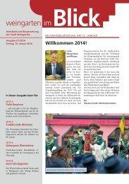 Ausgabe 01/2014 - Weingarten im Blick