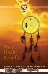 AFN NIHB Handbook - Atlantic Policy Congress of First Nations Chiefs