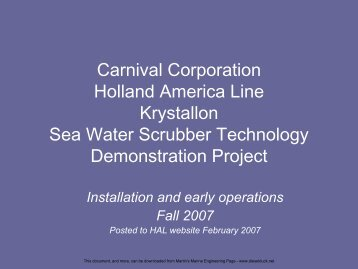 HAL and Krystallon scrubbers - Martin's Marine Engineering Page