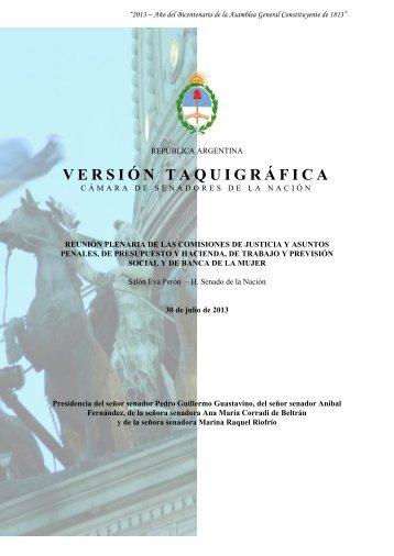 VERSIÓN TAQUIGRÁFICA - Revista Pensamiento Penal