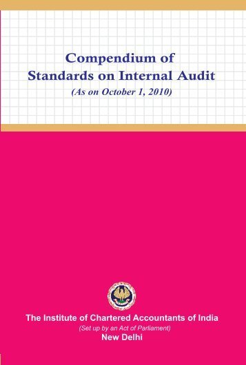 Compendium of Standards on Internal Audit - CAalley.com