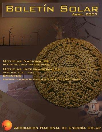 Boletín Solar 1, 2007 - Asociación Nacional de Energía Solar