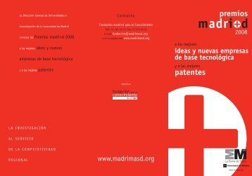 Premios madrimasd 2008. - Madri+d