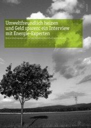 Umweltfreundlich heizen und Geld sparen: ein Interview mit Energie ...