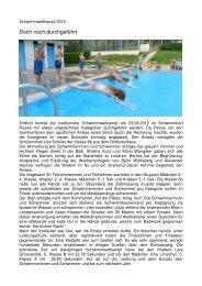 Schwimmwettkampf 2012 - Schulen Ruswil