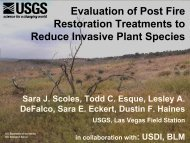 Evaluation of Post Fire Restoration Treatments to Reduce In - Desert ...