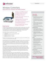 Enterasys Wireless Networking Part 2 - Starnet Data Design, Inc
