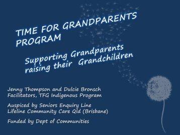 Recognition for Grandparents raising their Grandchildren - Qld ...
