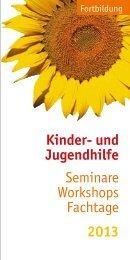 Fortbildungsflyer 2013 - St. Petri Kinder und Jugendhilfe