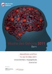 Programm - Woche des Gehirns 2011 Bern.pdf - Klinische ...