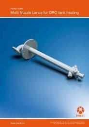 Multi Nozzle Lance for ORO tank heating - Parat Halvorsen