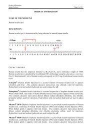 Actrapid ® Penfill ® 3mL - Novo Nordisk Australasia
