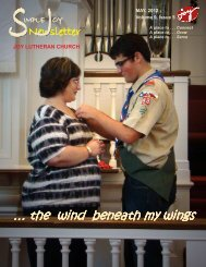 the wind beneath my wings - JOY Lutheran Church