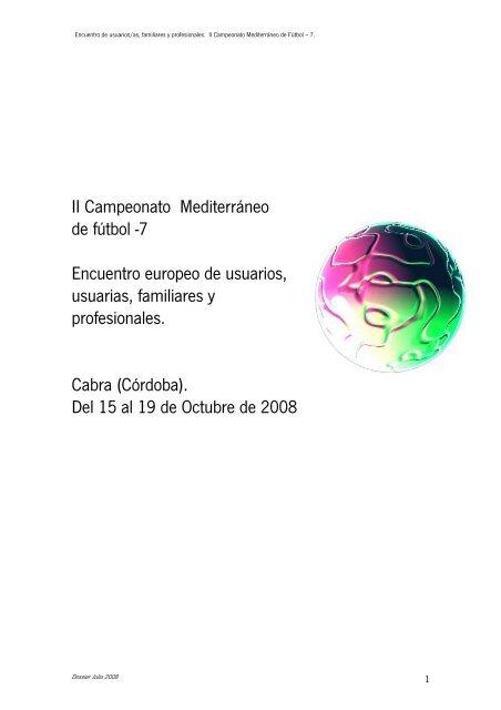 Campeonato Mediterráneo de Fútbol – 7 - Fundación Andaluza ...
