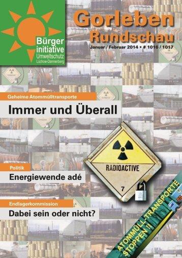 Januar / Februar 2014 - Bürgerinitiative Umweltschutz Lüchow ...