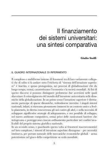 Il finanziamento dei sistemi universitari: una sintesi ... - Cimea